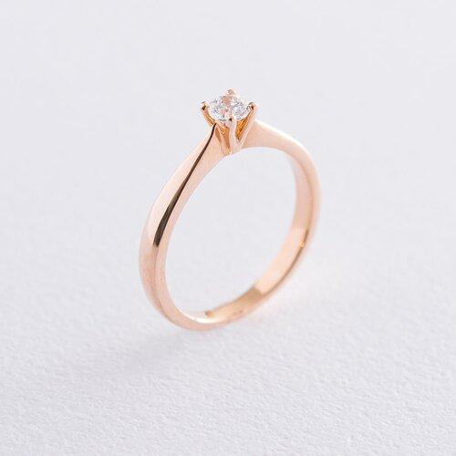 Золотое помолвочное кольцо (циркон Swarovski) к06258