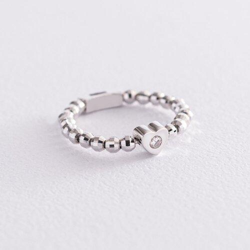 Золотое кольцо с сердечком (фианит) к06181