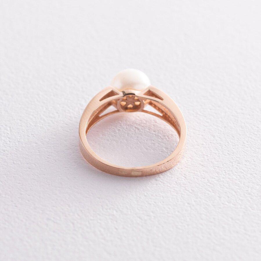 Золотое кольцо (жемчуг и фианиты) к05282