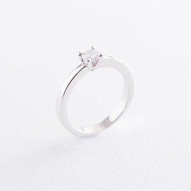 Помолвочное кольцо в белом золоте (куб. цирконий Swarovski) к06310