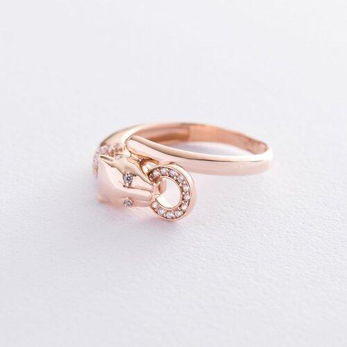 """Золотое кольцо """"Пантера"""" (фианиты). к06561"""