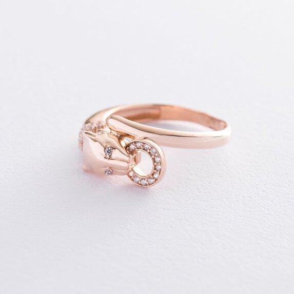 """Золотое кольцо """"Пантера"""" (фианиты) к06561"""