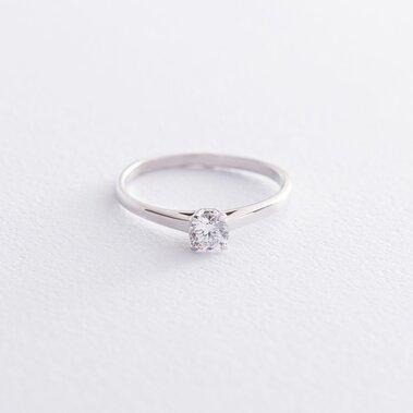 Золотое помолвочное кольцо (фианит) к05190