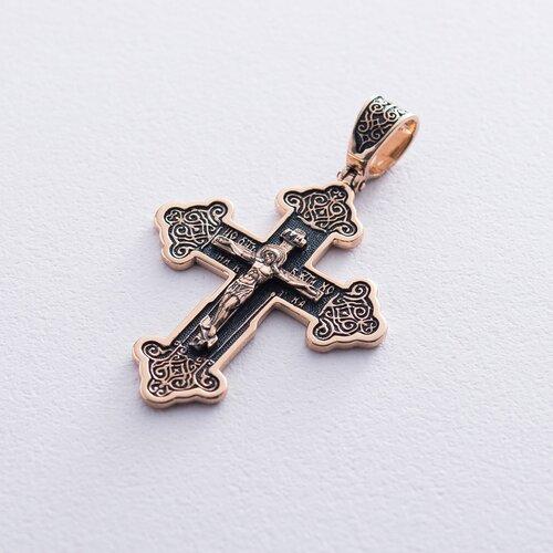 Золотой крестик с чернением. п02771