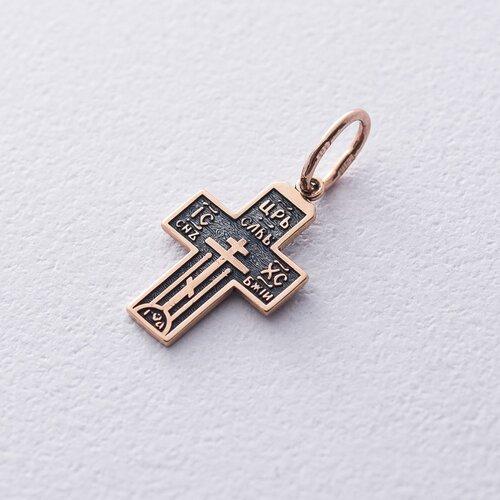 Золотой крестик (чернение) п03250