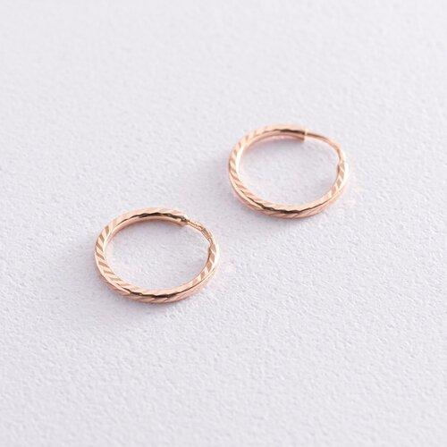 Серьги - кольца в красном золоте (1.5 см) с01874
